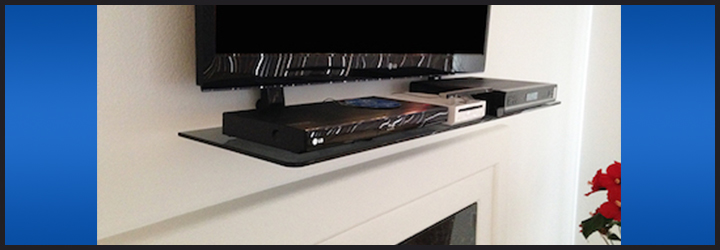 - The Easy To Install TV Shelf Shelf With Wall Mount