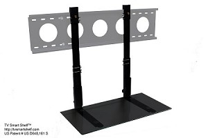 2' TV Smart Shelf™ - Black Glass