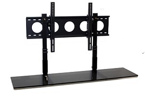 Combo Pack - 4' TV Smart Shelf° and Wall Mount - Black Glass